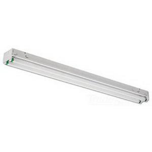 Philips Day-Brite T259-UNV-1/2-EB 2-Light Row/Surface/Suspension Mount Unit Standard Fluorescent Striplight Fixture; 118 Watt, Baked White Enamel, Lamp Not Included
