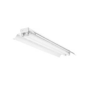 Lithonia Lighting / Acuity TL232MVOLT1/4GEUMHSSR 2-Light Surface/Suspended Mount General Purpose Fluorescent Striplight Fixture; 64 Watt, High-Gloss Baked White Enamel
