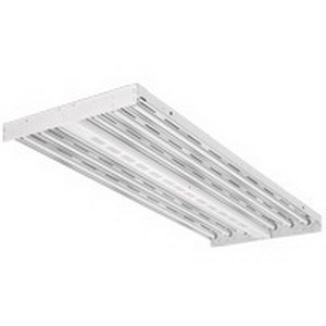Lithonia Lighting / Acuity IBZ454LGEB10PS90 I-Beam® 4-Light Suspension/Surface Mount IBZ Series Energy-Saving Fluorescent High Bay Fixture; 54 Watt, White Baked Enamel, Lamp Included