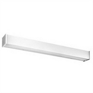 Lithonia Lighting / Acuity WC217MVOLTGEB10IS 2-Light Wall WC Series Fluorescent Strip Fixture; 17 Watt, Baked White Polyester, Lamp Not Included