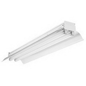 Lithonia Lighting / Acuity EJ296HO 2-Light Surface/Suspended Mount Heavy-Duty Fluorescent Strip Light; 110 Watt, High-Gloss Baked White Polyester, Lamp Not Included, 51 Per Pallet