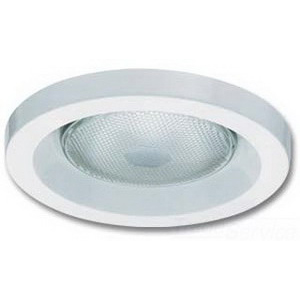 Lithonia Lighting / Acuity 6H2O-TOR-R6 Wet-Lite™ 6 Inch Drop Flange Full Reflector Trim With Lamp; Aluminum, Insulated, White