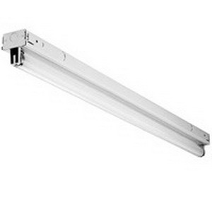 Lithonia Lighting / Acuity TZ254T5HOMVOLT1/4GEB10PS 2-Light Surface/Suspended Z Series Low Profile Fluorescent Strip Fixture; 54 Watt, Baked White Enamel, Lamp Not Included