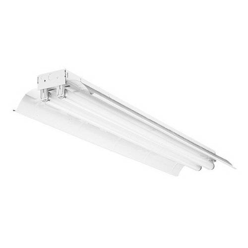 Lithonia Lighting / Acuity L232MVOLTGEUMHSSR 2-Light Surface/Suspended Mount Industrial Fluorescent Striplight Fixture; 64 Watt, High-Gloss Baked White Enamel