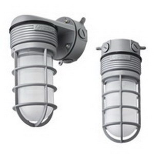 Lithonia Lighting / Acuity OLVTCM-M6 Vapor Tight Light Fixture; 15 Watt, 600 Lumens, Frosted Diffuser, Gray