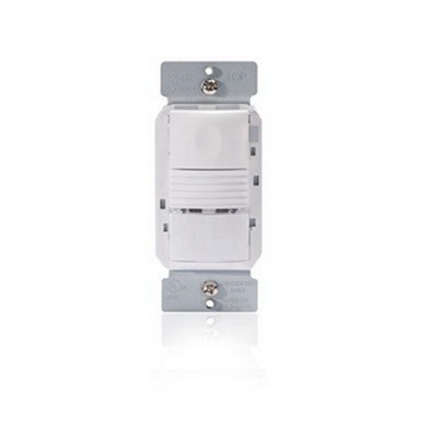 Watt Stopper PW-100-I Passive Infrared Occupancy Sensor; 120/277 Volt AC, 35 ft x 30 ft (Major Motion), Automatic On/Off, Manual On/Off, Ivory, Wall Switch Mount, 180 Degree
