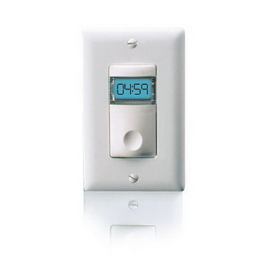 Watt Stopper TS-400-24-W Low Voltage Digital Preset Countdown Timer Switch; 5 mins - 12 Hour Response Time, White, SPDT, 24 Volt AC/DC