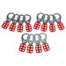 Brady 65376 Lockout Hasp; Vinyl-Coated High Tensile Steel, Red