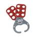Brady 65375 Lockout Hasp; Vinyl-Coated High Tensile Steel, Red
