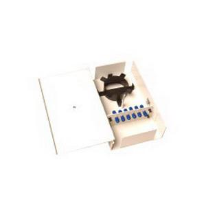 Multi-Link 10-5818 Standard Single Outer Door Fiber Distribution Unit; Wall Mount, 12-Port, Black