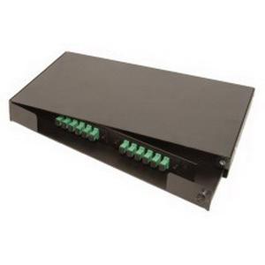 Multi-Link 10-4323 Swing-Out Style Fiber Distribution Unit; Rack Mount, 1-Rack Unit, Black