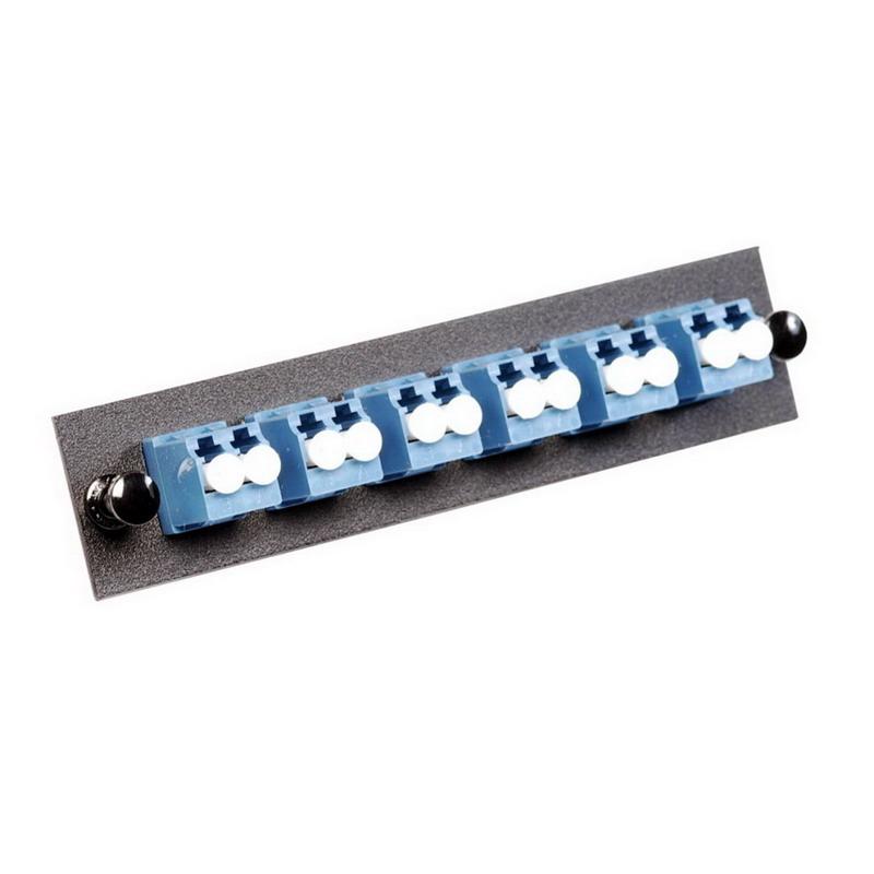 Multi-Link 10-9709 LC Loaded Fiber Adapter Panel; Singlemode, 6 Duplex Fibers, Blue/Black
