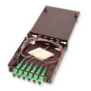 Multi-Link 045-187-10 Standard Single Outer Door Fiber Distribution Unit; Wall Mount, Black
