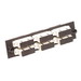 Multi-Link 10-5535 SC/PC Loaded Fiber Adapter Panel; Multimode, 6 Duplex Fibers, Beige/Black, 6/Pack