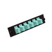 Multi-Link 065-242-10 SC Loaded Fiber Adapter Panel; Multimode 10 Gig, 6 Simplex Fibers, Aqua/Black, 6/Pack