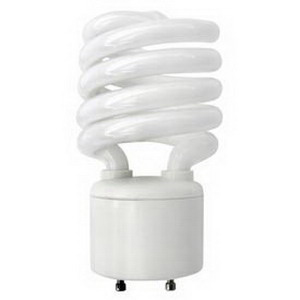 Tech-Con 33213SSP Spiral Compact Fluorescent Lamp; 13 Watt, 120 Volt, 2700K, 82 CRI, Bi-Pin (GU24) Base, 10000 Hour Life, White