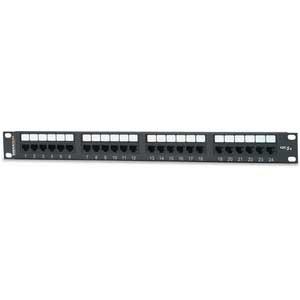 Signamax 12458MD-C5E Category 5e UTP Patch Panel; 12-Port, Black