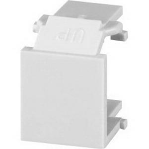 Signamax CMK-BL-IV Blank Keystone Module; Flush Mount, Thermoplastic, Ivory, 10/Pack