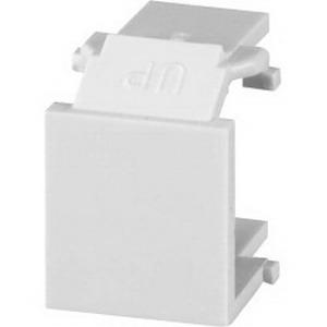 Signamax CMK-BL-WH Blank Keystone Module; Thermoplastic, White, 10/Pack