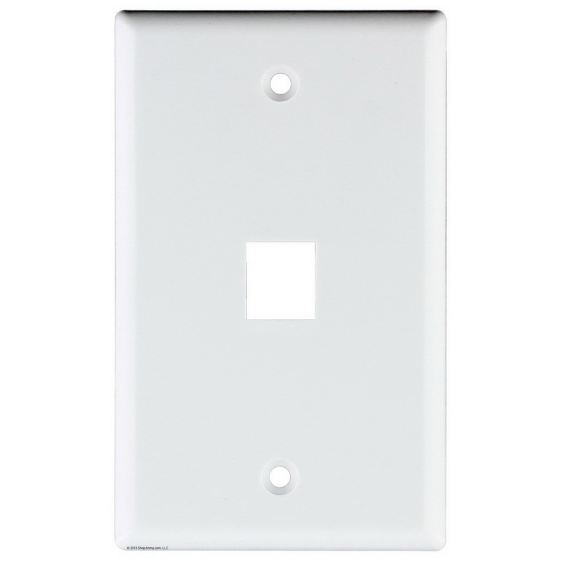 Signamax SKF-1-WH 1-Gang Faceplate; Screw Terminal, (1) Port Keystone, High Impact Thermoplastic, White