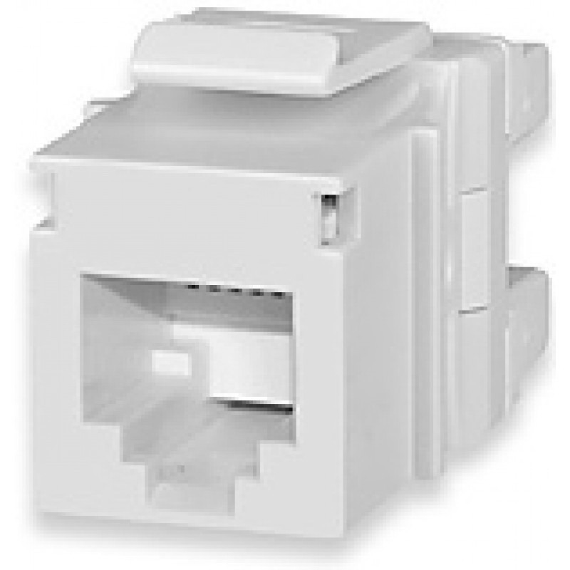 Signamax KJ126MT-C3U-WH 3-Pair USOC Category 3 RJ12 Jack; Flush Mount, 6P6C, White