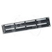 Signamax 48458MD-C6C Category 6C RJ45 Patch Panel; Rack Mount, 48-Port, 1-Rack Unit, Black