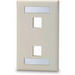 Signamax SKFL-2 1-Gang Faceplate; Screw, (2) Port, High Impact Thermoplastic, Light Ivory