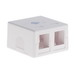 Signamax SMKL-2-WH Multimedia Box; Surface, (2) Port, Keystone, Fire Retardant Thermoplastic, White
