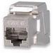 Signamax KJS458TL-C5E 1-Gang Category 5e Toolless Keystone Jack; Flush/Vertical Mount, 8P8C, Silver