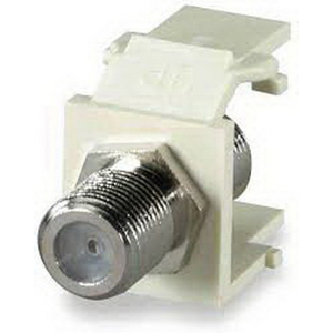 Signamax CMK-F F-Type Keystone Coaxial Connector Module; 1 Giga-Hz, Light Ivory