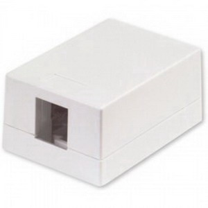 Signamax SMKL-1-WH Surface Mount Box; Surface Mount, Thermoplastic, White, (1) Port