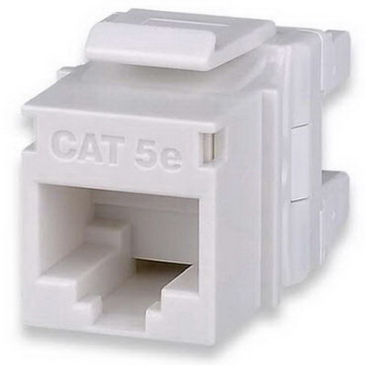 Signamax KJ458HD-C5E-WH Category 5e High-Density Keystone Jack; Surface/Vertical Mount, 8P, White