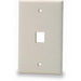 Signamax SKF-1 1-Gang Faceplate; Screw, (1) Port, Keystone, High Impact Fire Retardant Thermoplastic, Light Ivory