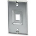 Signamax SSKF-1P 1-Gang Wallplate; Screw, (1) Port, Keystone, 304 Stainless Steel