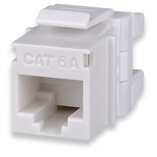 Signamax KJ458MT-C6C-WH MT-Series High-Density Category 6 RJ45 Keystone Jack; Flush Mount, 8P8C, White