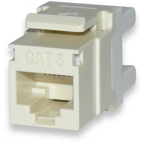 Signamax KJ458MT-C6C MT-Series High-Density Category 6 RJ45 Keystone Jack; Flush Mount, 8P8C, Light Ivory