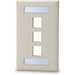 Signamax SKFL-3 1-Gang Faceplate With Labeling Window; Screw, (3) Port, Keystone, High Impact Fire Retardant Thermoplastic, Light Ivory