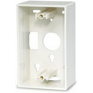 Signamax SMB1-SG-WH 1-Gang Surface Mount Box; Surface Mount, Thermoplastic, White