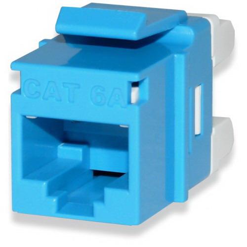 Signamax KJ458MT-C5E-BU High Density Category 5e Keystone RJ45 Jack; 8P8C, Blue