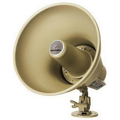 Bogen Communications SPT15A Reentrant Horn Loudspeaker; 9 Inch Dia x 9.25 Inch Depth, 275 Hz - 14 Kilo Hz, -22 DB, Bracket Mount