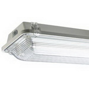 EPCO G8L4-T8-CLM GFF Series™ 4-Light Ceiling/Wall Fluorescent Strip Fixture; Epoxy, Lamp Not Included