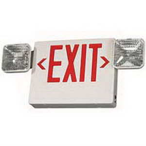 Crescent Lighting CPCRW32EN LED Emergency Exit; Thermoplastic Backplate, White