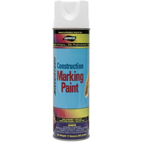 L.H. Dottie 255 Aervoe Construction Marking Paint; 17 oz, Aerosol Can, White
