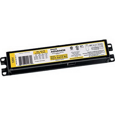 Philips REZ2S32SC35M Mark 10 Powerline Fluorescent Ballast; 120 Volt, 15 - 68 Watt, 2-Lamp, Programmed Rapid Start