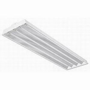 Philips Day-Brite FBF454HO-UNV-1/4-EB-2LS 4-Light FBF Series Fluorescent High Bay Fixture; 54 Watt, High Reflectance Baked White Enamel, Lamp Not Included