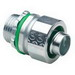Bridgeport 435-SLTUS Straight Liquid Tight Connector; 2 Inch, US Steel, Electro-Plated Zinc