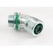 Bridgeport 450-SLTUS 45 deg Liquid Tight Connector; 1/2 Inch, US Steel, Electro-Plated Zinc