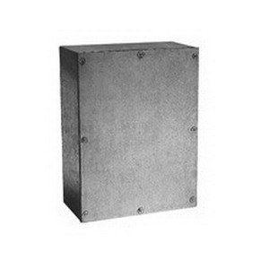 Cooper B-Line 18186-SCG Gasketed Junction Box; 18 Inch Width x 6 Inch Depth x 18 Inch Height, Screw-On Cover, 14 Gauge G-90 Grade Galvanized Steel, NEMA 3,12