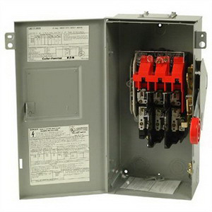 Eaton / Cutler Hammer DH323NRK Single-Throw Fusible Heavy Duty Safety Switch; 240 Volt AC/250 Volt DC, 100 Amp, 3 Phase