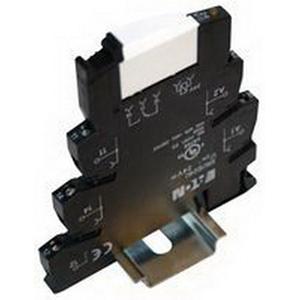Eaton / Cutler Hammer XRU1D120U Screw Connection Terminal Block Relay; 6 Amp, 120 Volt AC/110 Volt DC, DIN Rail Mount